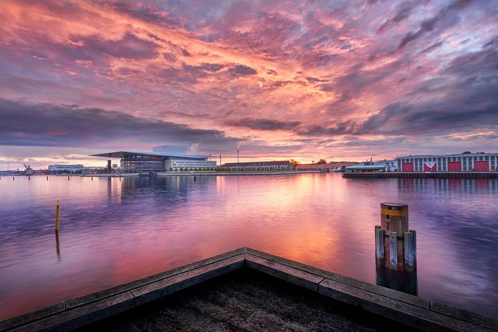 Operahouse in purple sunrise