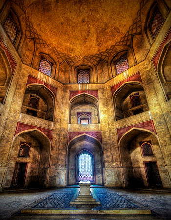 Stuck in India - Humayun's Tomb If you want to see how I made this (and how you can too!), visit my HDR Tutorial.  I hope it gives you some new tricks!This is a picture of the Tomb of Humayun in Delhi.  I arrived during Diwali, the biggest annual festival that involves a burning a lot of things.  Most of the tombs, mausoleums, temples, and the like were surprisingly empty, giving me clean access to cool places like this without dopey tourists getting in the way of sweet photography.It is the next morning now and the air in Delhi is covered with the smoke from last night's festivities...  There is this acrid smell of stale carbon and it's not exactly like a trip to Sedona.  Luckily, I am getting out of the city today because my hosts have been kind enough to give me a ride up to Agra to visit the fort and Taj Mahal... more pictures coming soon, so stay tuned!- Trey RatcliffClick here to read the rest of this post at the Stuck in Customs blog.