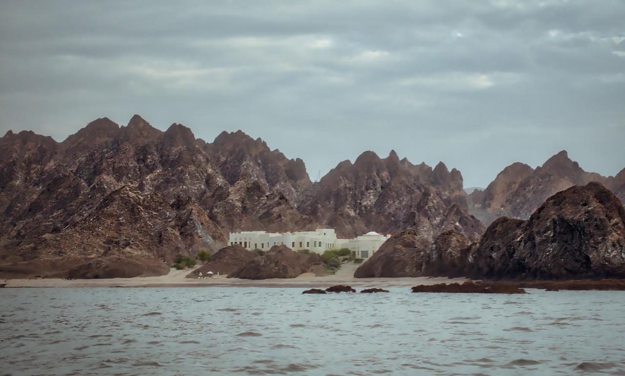 A Beautiful Spa On A Rocky Coastline In Oman
