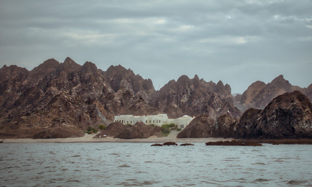 A Beautiful Spa On A Rocky Coastline In Oman
