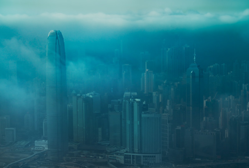 Foggy and Moody Hong Kong