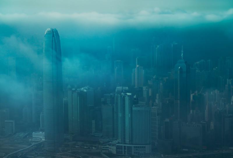 Foggy and Moody Hong Kong