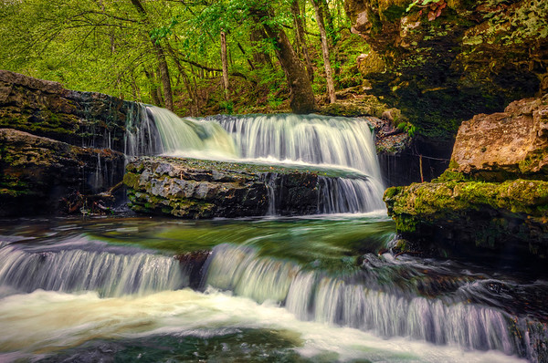 'Old Stone Falls' ~ Old Stone Fort State Park, TN
