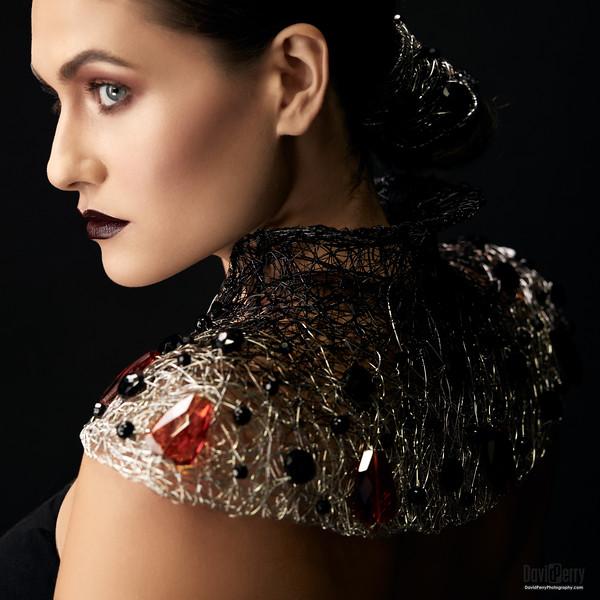 Catherine Batcha wearing Neckpiece