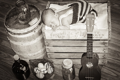 Newborn Aiden. Daddy's Props.