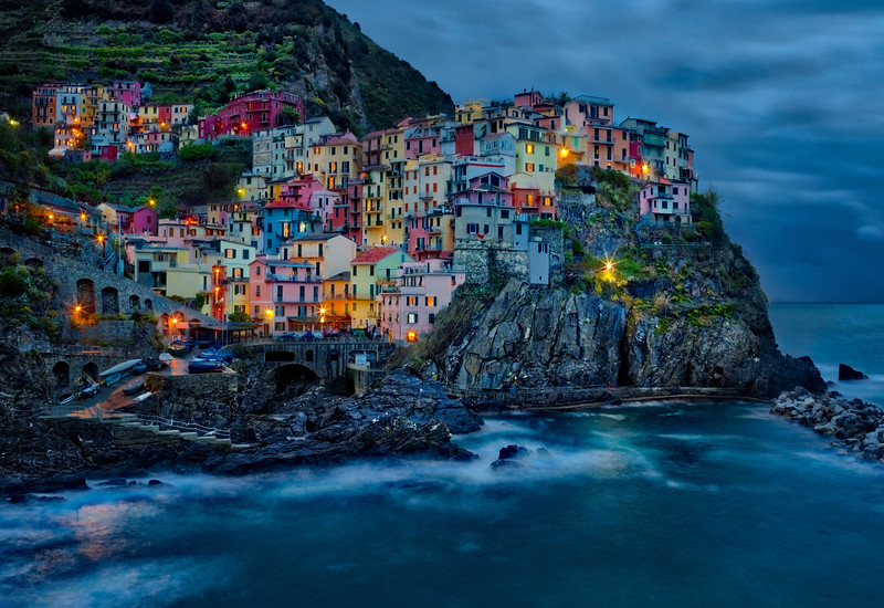 Cinque Terre As Evening Falls