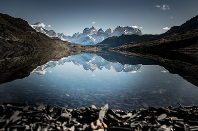 Torres del Paine Massif perfect day no wind