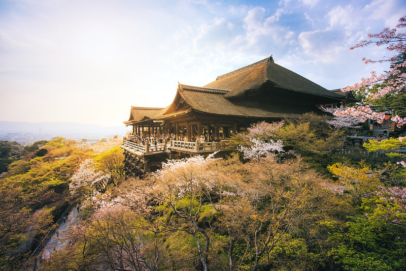 Sample HDR Photo of the Kiyomizu Dera Temple in Japan