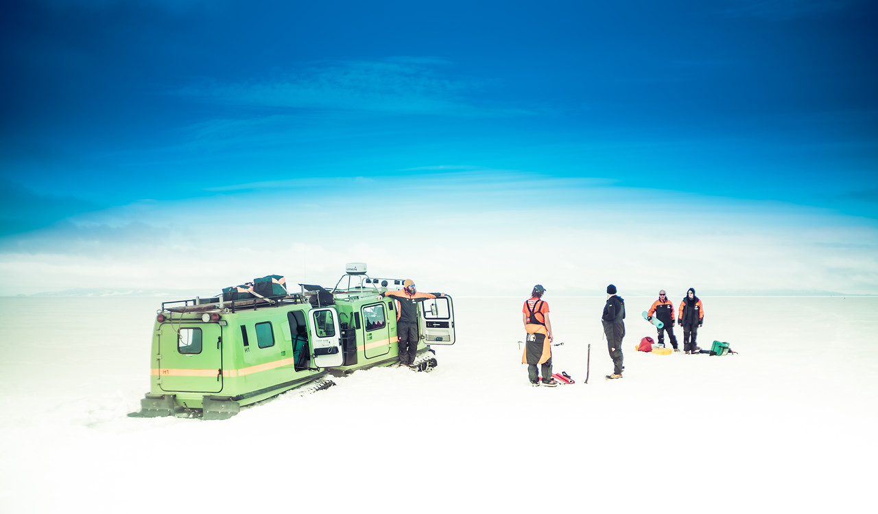 A Picnic on the Melting Sea Ice by a Hagglund
