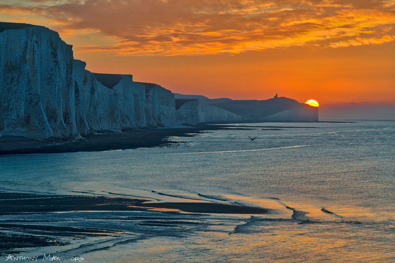 """Sunrise Winking Behind Beachy Head"""