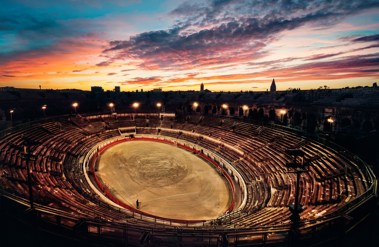 A Sunset After the Bullfight in Nimes