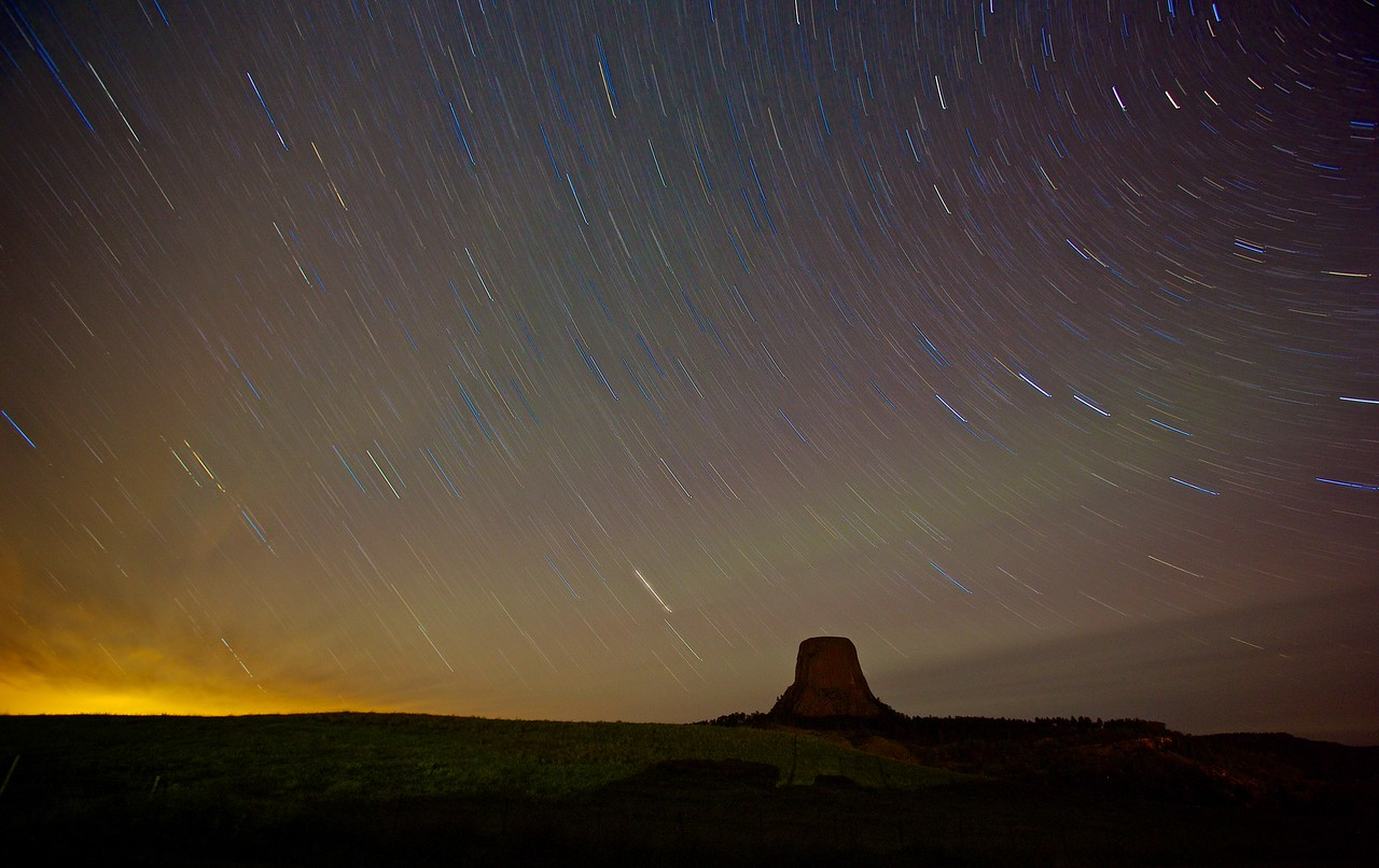 Startrails at Devil's Tower