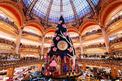 Christmas Tree at Galeries Lafayette, Paris, France
