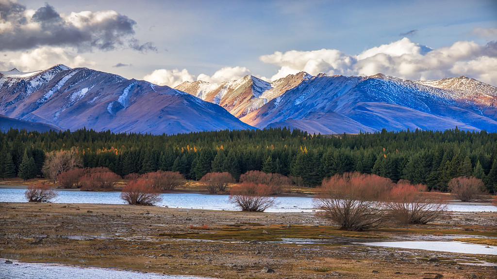 Southern Alps, Lake Tekapo, New Zealand