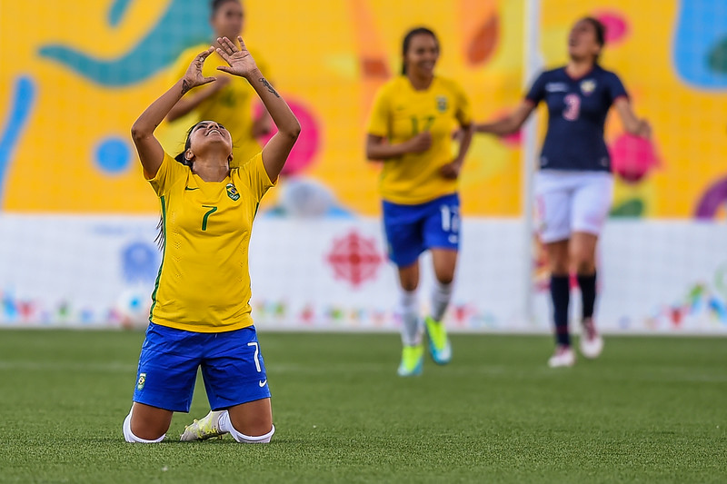 Brazil vs Ecuador Women's Soccer First Round- Group B - Match 7 Soccer game at the 2015 Pan Am Games.
