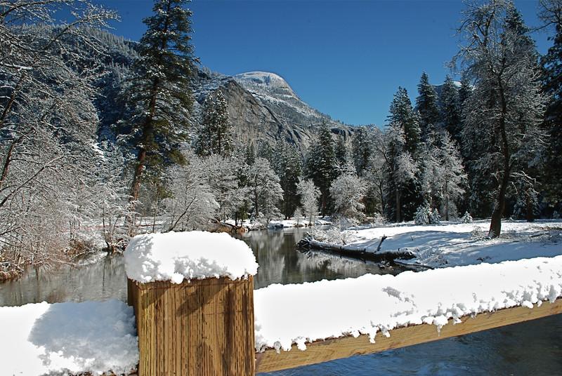 Yosemite snow scene