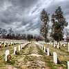 """<h2>The Endless Rows of Arlington Cemetery</h2> <br/>Not too far from the capitol in DC is the sprawling expanse of Arlington Cemetery.  It is a very somber place...  It was just my son and I, walking around for quite a while together.  I think it all made an impression on him.<br/><br/>We stayed so long into the evening -- we were the last ones there!  Except for the security guards, who walked with us as we were leaving, since they locked up behind us.  It was nice, however -- they took their time and let me set up for a few final shots with the tripod as the light was falling behind the storm clouds.<br/><br/>- Trey Ratcliff<br/><br/><a href=""""http://www.stuckincustoms.com/2010/04/16/the-endless-rows-of-arlington-cemetery/"""" rel=""""nofollow"""">Click here to read the rest of this post at the Stuck in Customs blog.</a>"""