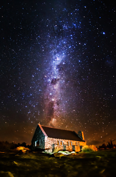 "The Church of the Good Shepherd under the Stars This is one of The Darkest Skies in the World. You may find this snippet interesting: ""A delegation from the country has successfully petitioned UNESCO for the protection of 'sky-scapes' as well as landscapes under their World Heritage system, in order to see the status granted to the air above Tekapo and Aoraki Mount Cook.""If you ever get to this place, you'll be so shocked that you can see this with the naked eye! It's certainly worth a visit…- Trey RatcliffClick here to read the rest of this post at the Stuck in Customs blog."