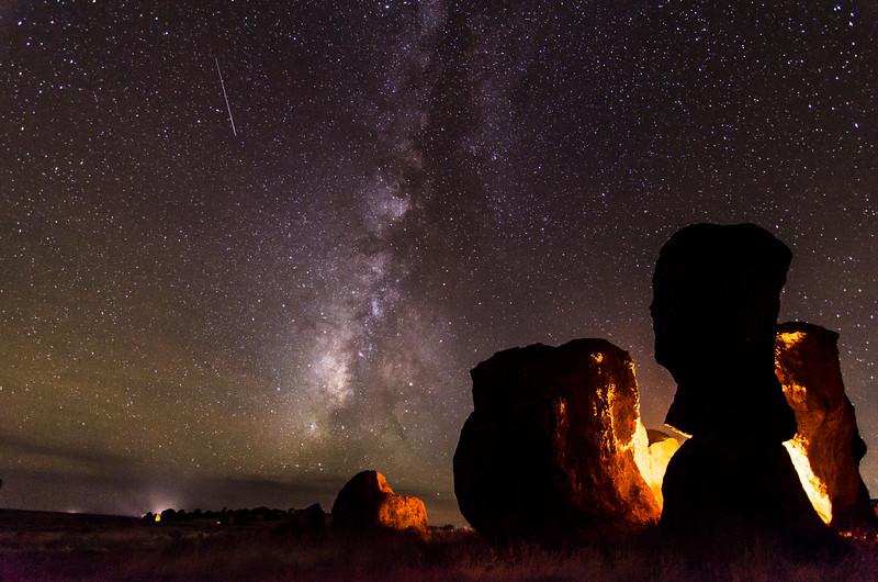 City of Rocks Milky Way