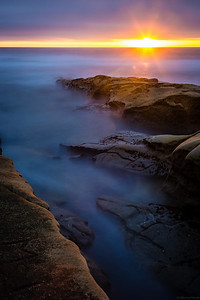 Sunset at Hospital Reef, La Jolla. 90 second exposure with a neutral density filter.