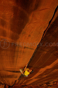 Simon Anthamatten, The Optimator, Optimator Wall, Indian Creek, Utah, US