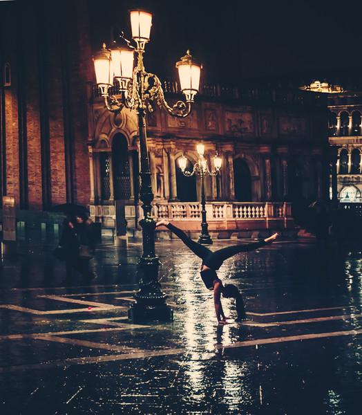 Bel Doing Yoga In Venice