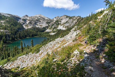 Looking toward Rainbow Lake