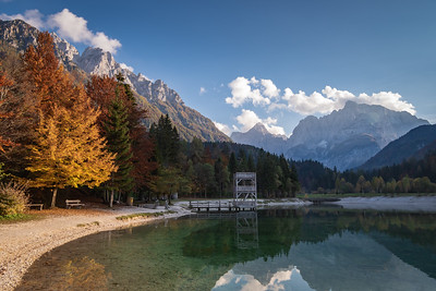 Autumn at Lake Jasna in Slovenia