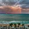 Sunset Storm Over The Atlantic Ocean