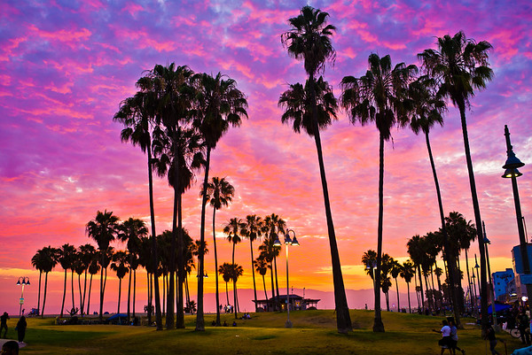 Summer Sunset Venice Boardwalk