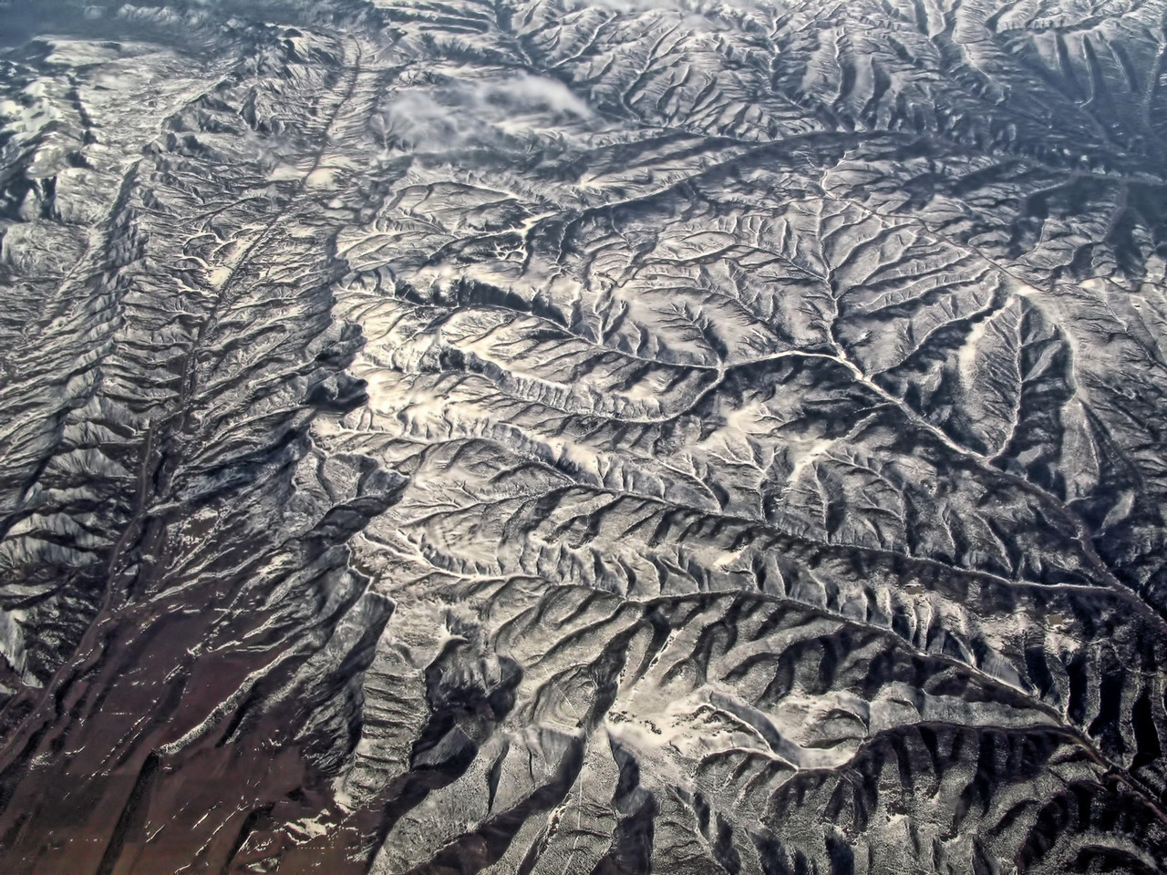 The Rocky Mountains from Ron's  'Window Seat View.'