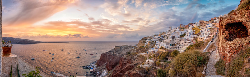 Sunset from Oia Santorini