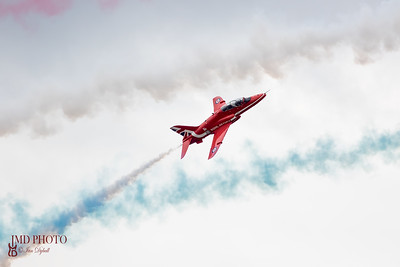 RAF Red Arrows aerobatic display team at Great Yarmouth air show June 16th 2018