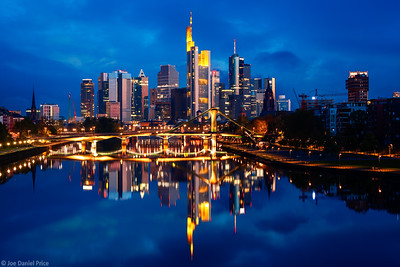 Early Morning, Skyline, Frankfurt, Hessen, Germany