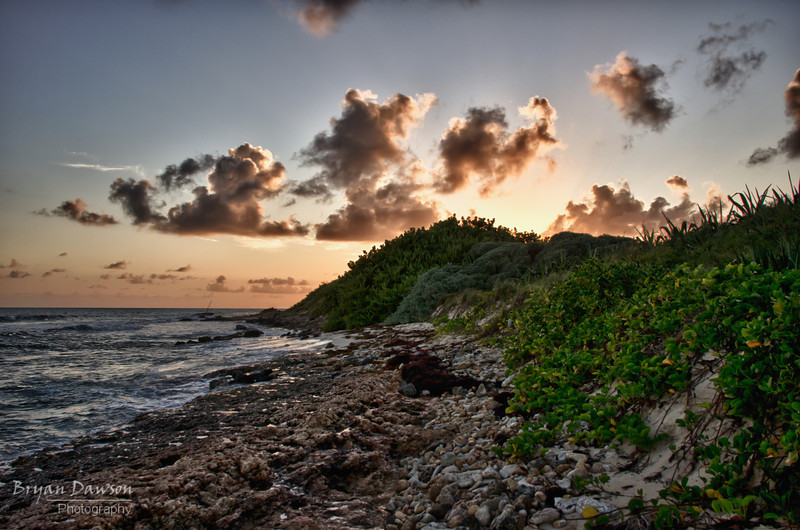 This was from our recent trip to Anguilla.  Down the beach from our resort was this rocky outcrop that made for so interesting photos.  For this one I combined 3 exposures using HDR Efex Pro from Nik Software.