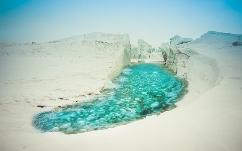 Sliding Into A Melt Pool In Antarctica