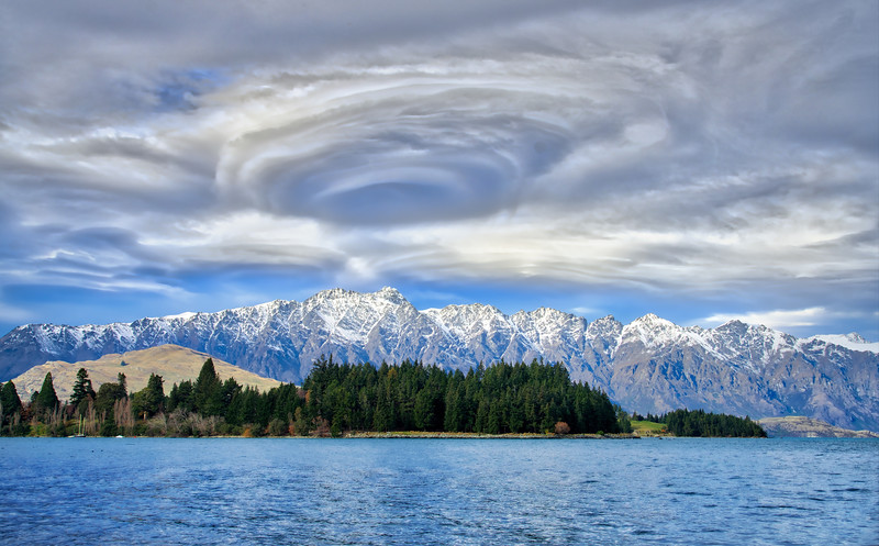Crazy Lenticular Clouds Over Queenstown