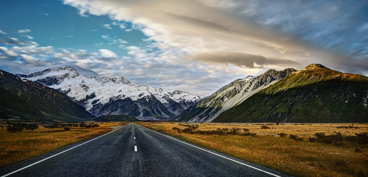 The Cinematic Country When you drive to Aoraki Village, it can take many more hours than necessary if you like to take photos. There are literally one million places to jump out and get photos of roads and the mountain! So awesome!Here's a little hint if you take this road. If you walk off to the right and jump the fence, there are many little streams that are also very beautiful. No one ever walks over there… I don't know why. Don't let the fence stop you. No one is over there! - Trey RatcliffClick here to read the rest of this post at the Stuck in Customs blog.