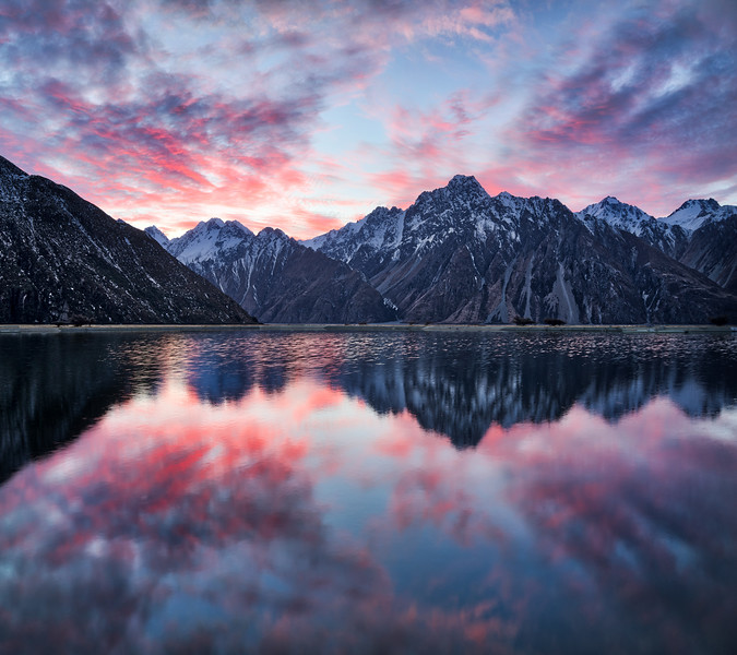 Sunset Reflections In Tekapo
