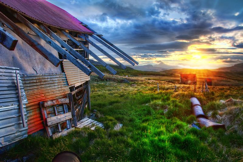 The Old Farmhouse At Sunrise