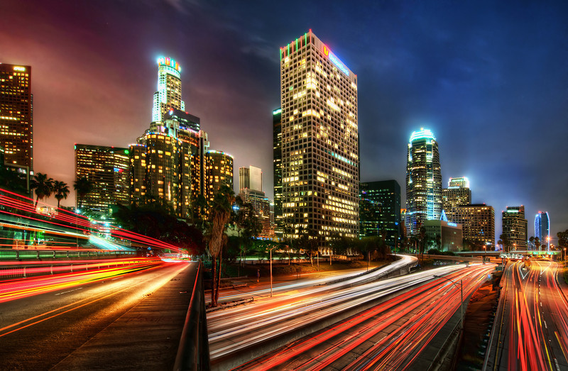 "<h2>Electric LA at Night</h2> <br/>I took this a few nights ago in Los Angeles. I've always wanted to get a good shot of the downtown action, and Stuck On Earth helped me get it.<br/><br/>Luckily, I saw a few hints of this kind of a shot from other photographers that had geotagged shots in the area. I went out there with Tom Anderson and we spent a few hours exploring the area. We got countless great shots and this was the first one I processed.<br/><br/>- Trey Ratcliff<br/><br/><a href=""http://www.stuckincustoms.com/2011/12/24/electric-la-at-night/"" rel=""nofollow"">Click here to read the rest of this post at the Stuck in Customs blog.</a>"