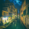 Moody Canals At Night