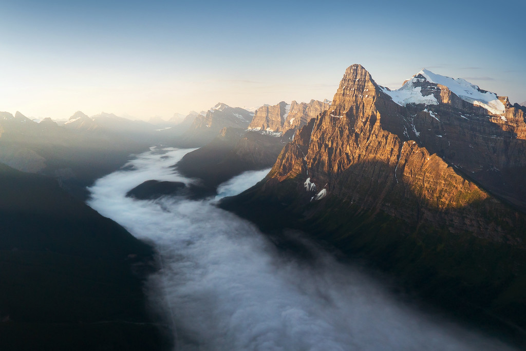 Sunrise in the Canadian Rockies