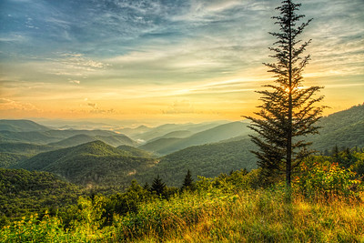 Sunset, Cowee Mountains