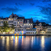 "<h2>Zurich at Night</h2> It was a cool night -- one of those nights when I was glad I lugged around a jacket all day.    These dark waters that run through old European cities at night set an interesting mood.  I can't quite put my finger on it...  heavy and deep and dark... but strange and light and reflective on top.  I think some of these things you can't quite see end up in the photo, somehow.  - Trey Ratcliff  Read the rest <a href=""http://www.stuckincustoms.com/2011/11/29/zurich-at-night-live-hangout/"">here</a> at the Stuck in Customs blog."