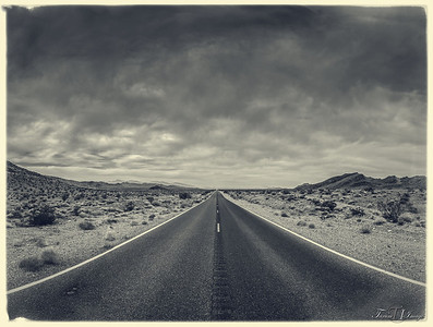 Road into Death Valley California USA
