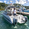 Fishermen setting out to take part in Grenada's annual Bill Fish Tournament