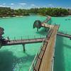 Walking To Lunch In Bora Bora