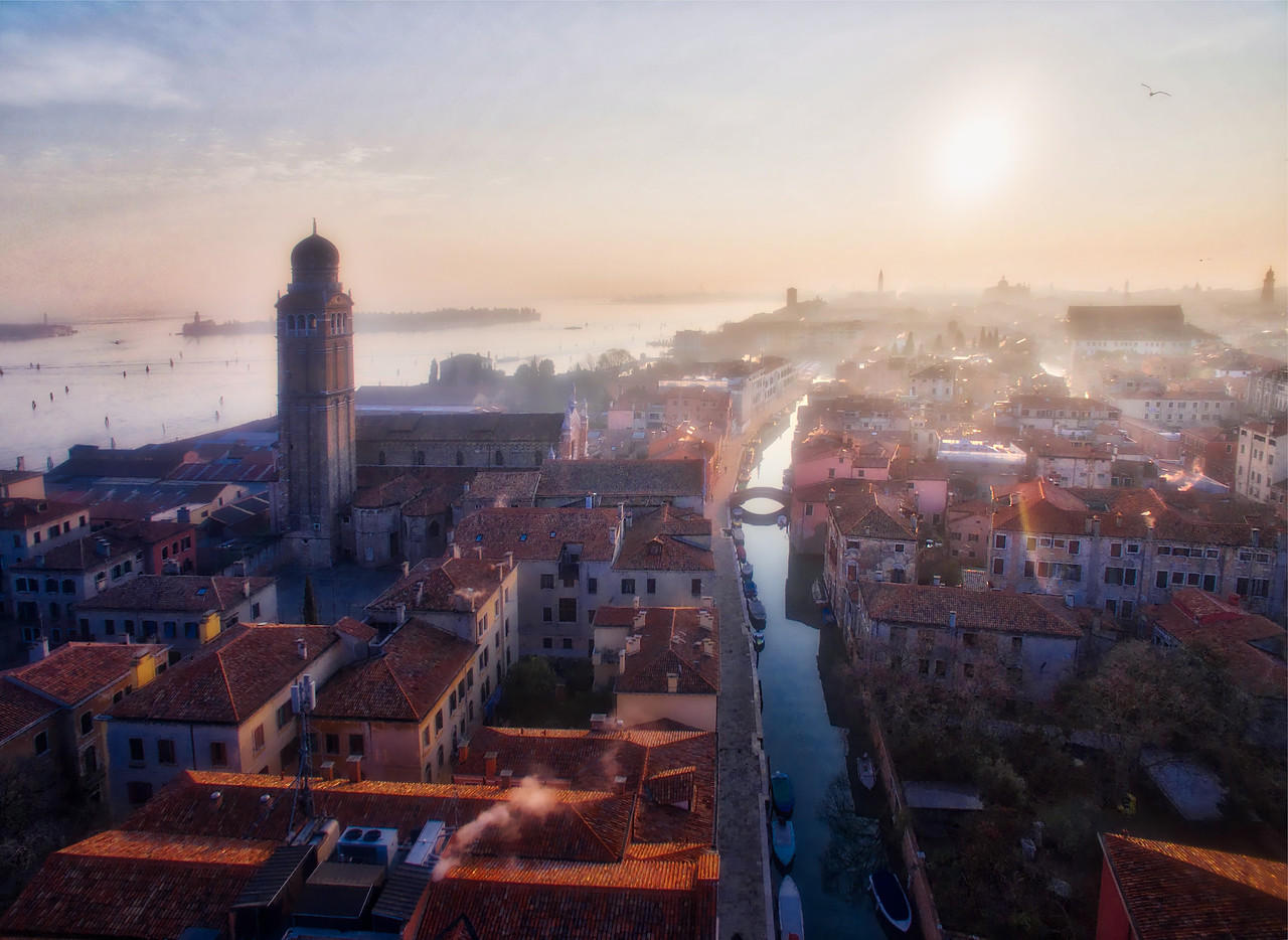 Floating Above Venice