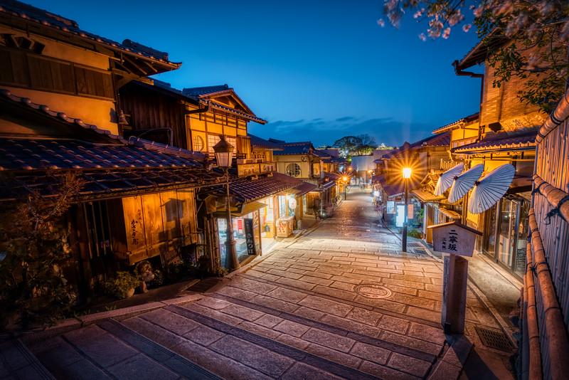 Kyotos Streets at Night